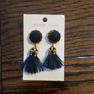 Jewelry - Black Mini Tassel Earrings
